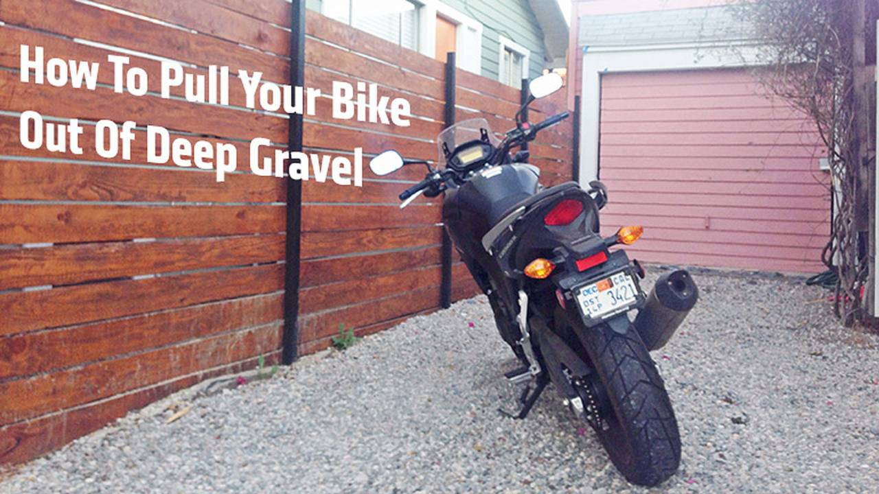 How To Pull A Bike Out Of Deep Gravel, Sand Or Mud