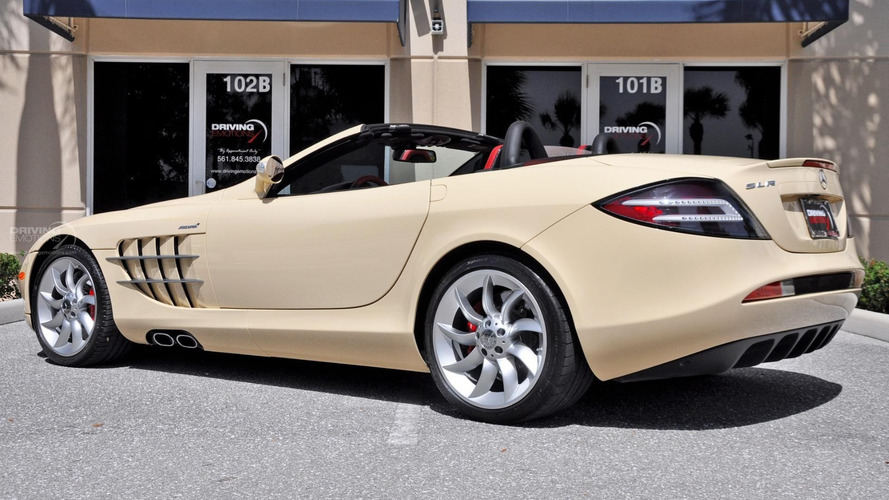 Low-Mileage Mercedes SLR Roadster Has One-Of-One Ivory Paint