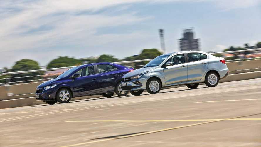 Comparativo Fiat Cronos Drive x Chevrolet Prisma LTZ - O líder em xeque