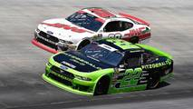 Austin Cindric, Team Penske, Ford Mustang Fitzgerald Glider Kits and Cole Custer, Stewart-Haas Racing, Ford Mustang Haas Automation