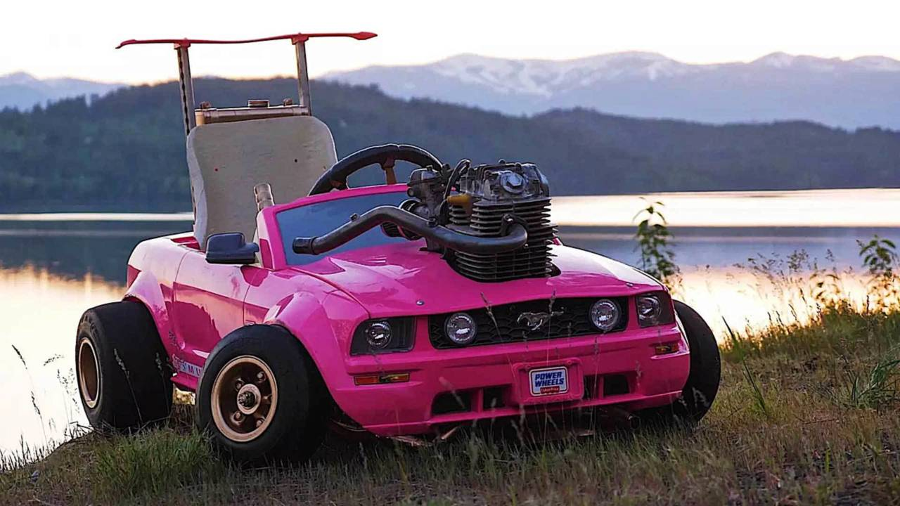 Guy Puts Dirt Bike Engine In Barbie Mustang, Becomes Legend