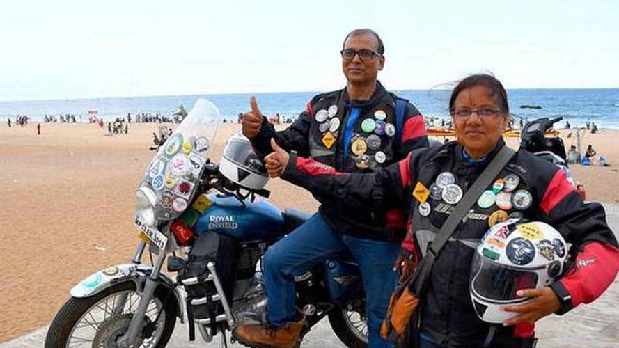 Indian Couple Spending Golden Years Touring