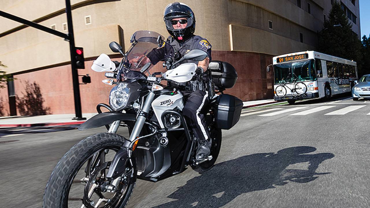 Thief Swipes Cop's Riding Gear and Saddlebags