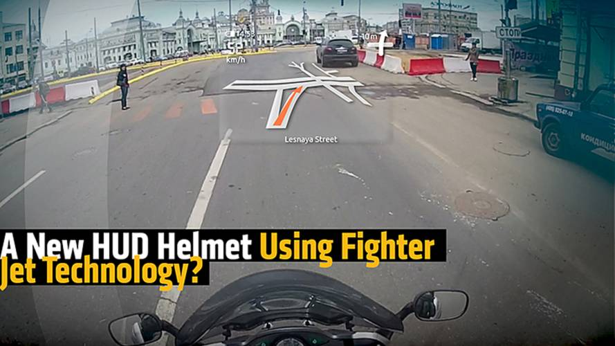A New HUD Helmet Using Fighter Jet Technology?