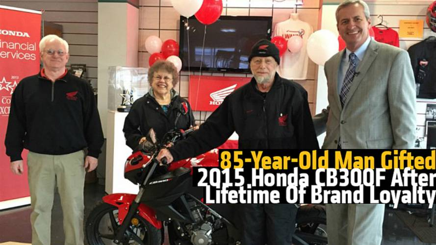 85-Year-Old Man Gifted 2015 Honda CB300F After Lifetime Of Brand Loyalty