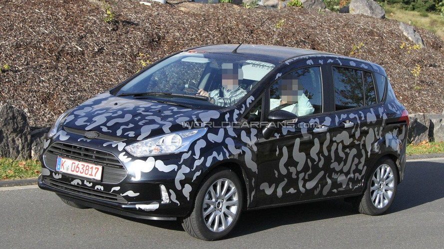 2012 Ford B-Max spied testing at Nürburgring