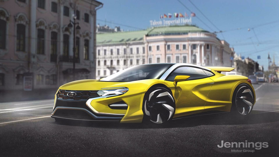 Supercars rendered from major automakers