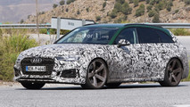 2018 Audi RS4 Avant with Sonoma Green paint spy photo