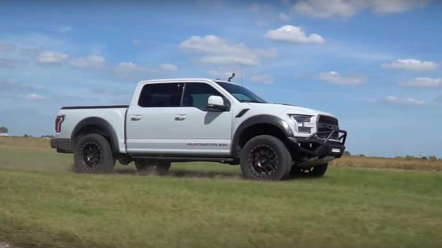 Hennessey Destroys Its Own Lawn Doing Donuts With A Velociraptor