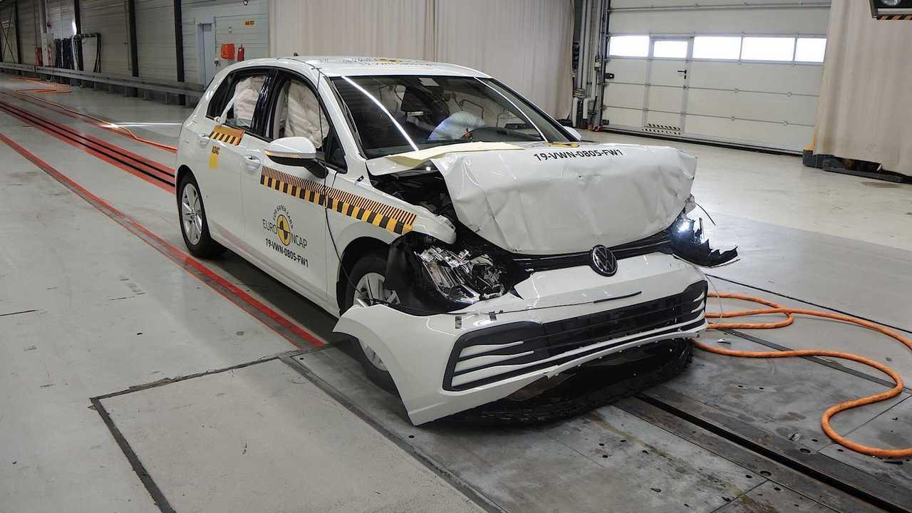 2020 VW Golf crash test by Euro NCAP