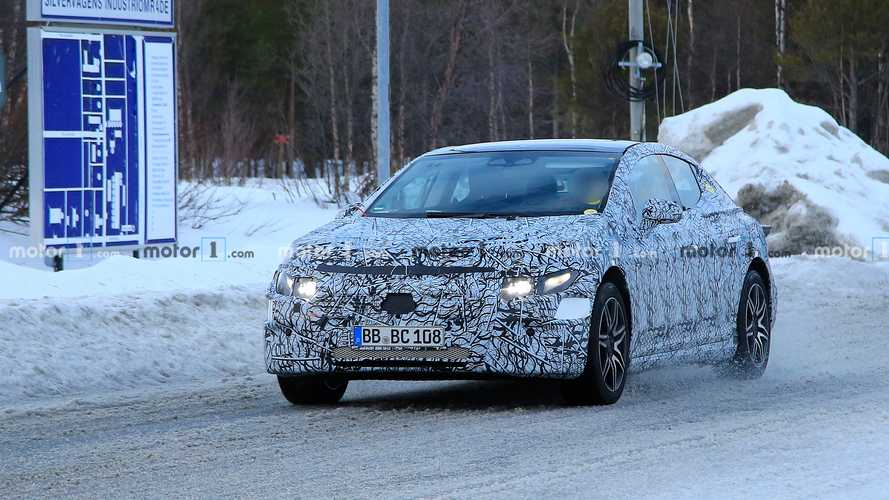 Mercedes-Benz EQC Saloon spy photos
