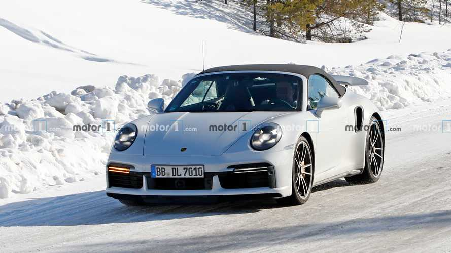 Porsche 911 Turbo S Convertible production model spied