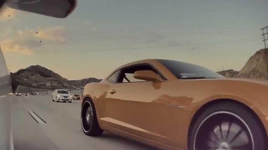Tesla Hate: Chevy Camaro Driver Throws Coins At A Tesla Model 3