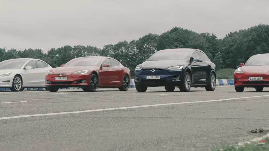 AutoTrader Creates Biggest Tesla Drag Race Ever: Who's The Winner?