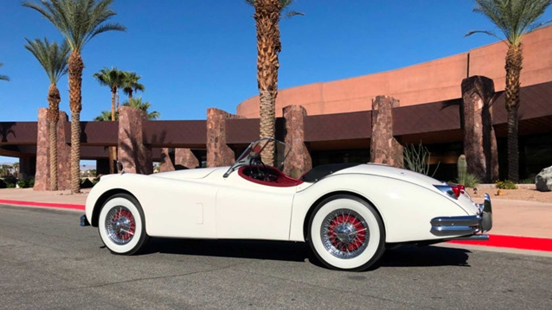 "[""Bid On A Celebrity-Owned 1956 Jaguar XK140 MC""]"