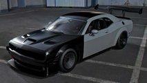 Render de Dodge Challenger Hellcat de pista