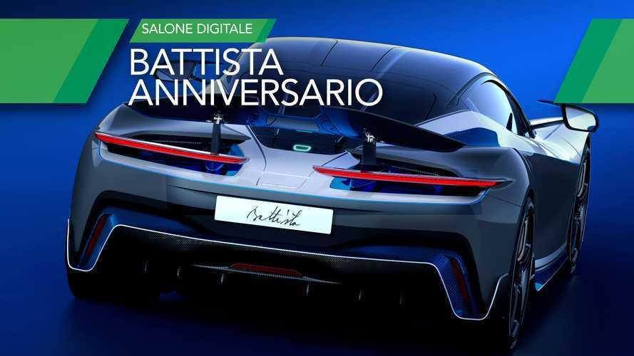 Automobili Pininfarina Battista, eccola con il vestito da Anniversario