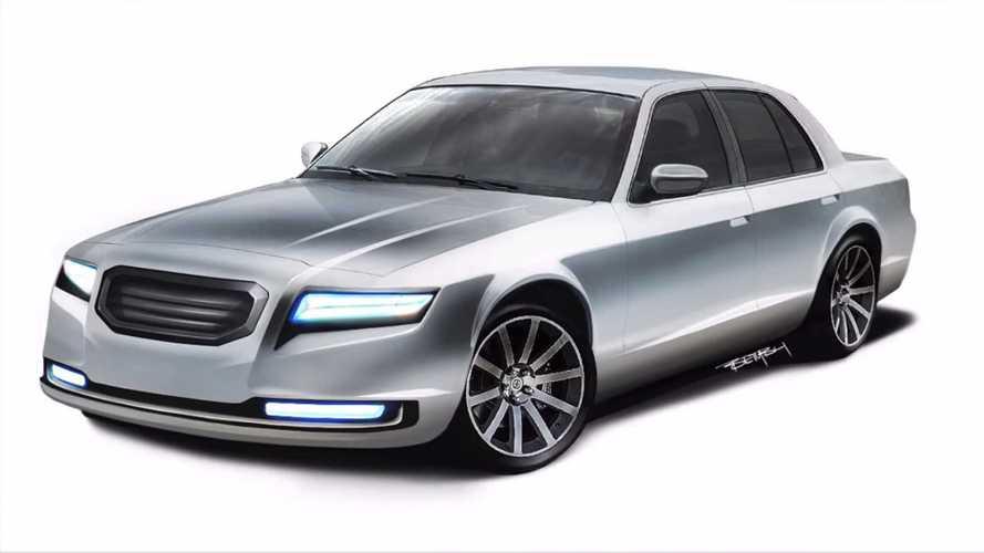 Ford Crown Victoria fue modernizado en elegante visualización digital