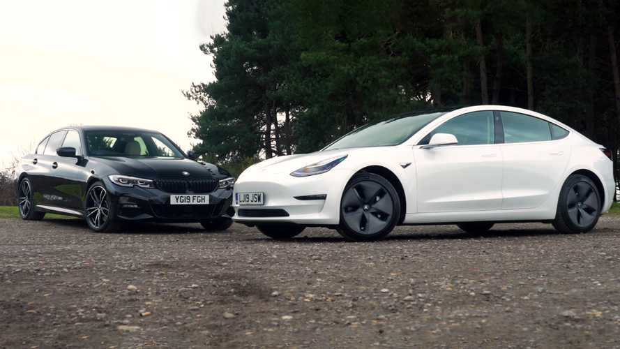 Which One Wins? WhatCar Puts Tesla Model 3 Versus BMW 3 Series