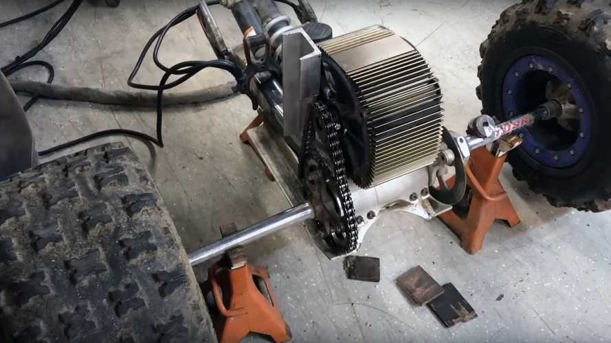 Rich Rebuilds Installs Motor And Battery In Tesla Cyberquad