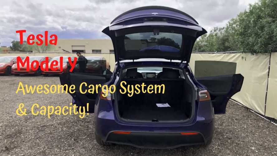 See The Tesla Model Y Rear Seats, Cargo Space, Frunk And More