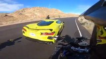 2020 Corvette Near Miss With Motorcycles
