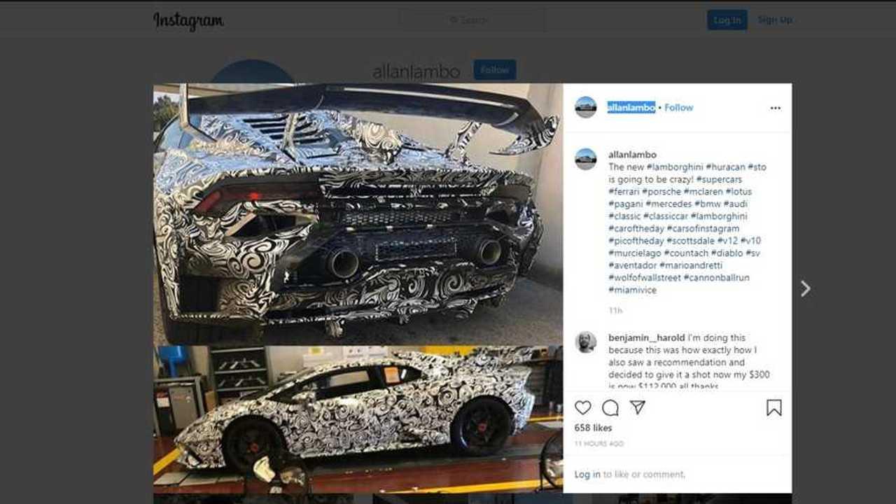 Possible Lamborghini Huracan STO