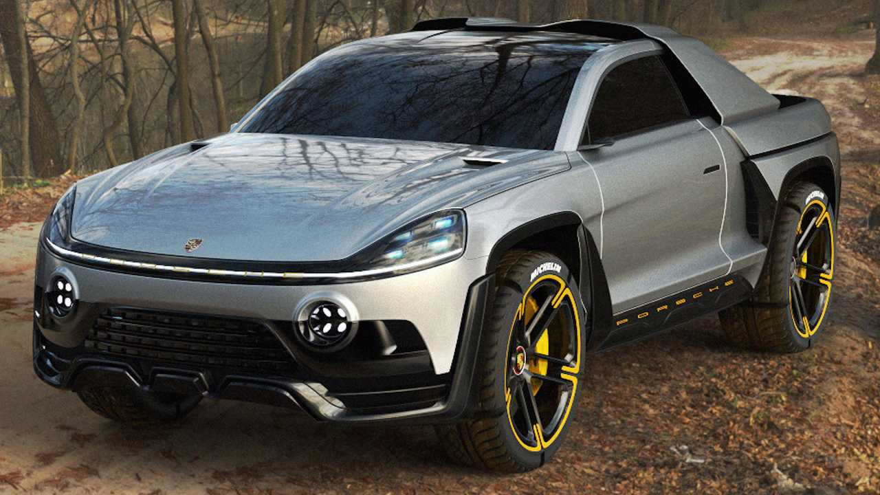 photo of Porsche Traykan Concept Imagines An Unlikely Cybertruck Rival image
