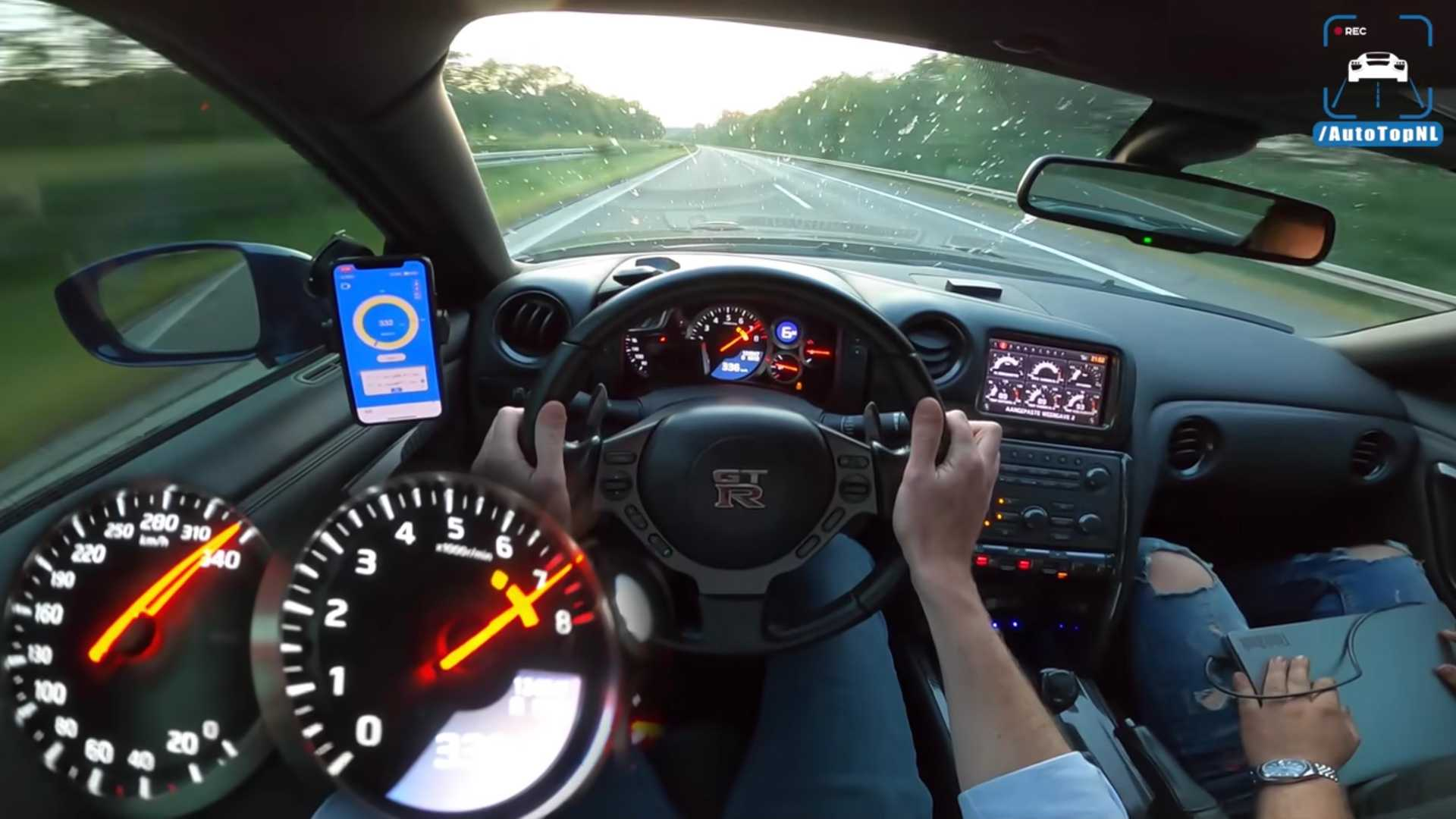 Watch 1,400-HP Nissan GT-R Hit 209 MPH On The Autobahn
