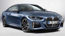 BMW Serie 4 Coupé 2020, render con parrilla pequeña