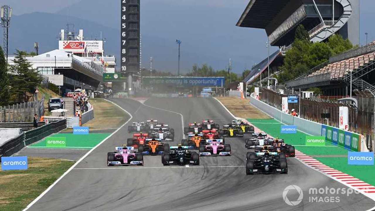 Spanish GP race start 2020