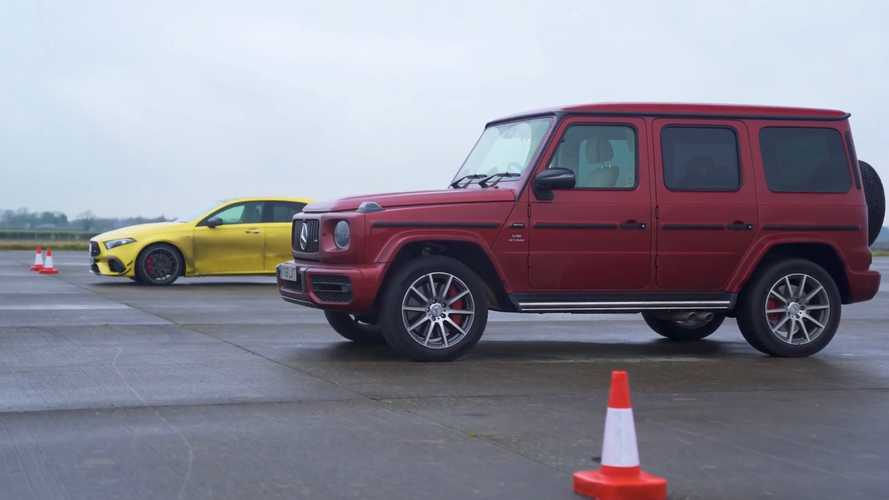 Mercedes-AMG G63 drag races AMG A45 S in the name of fun