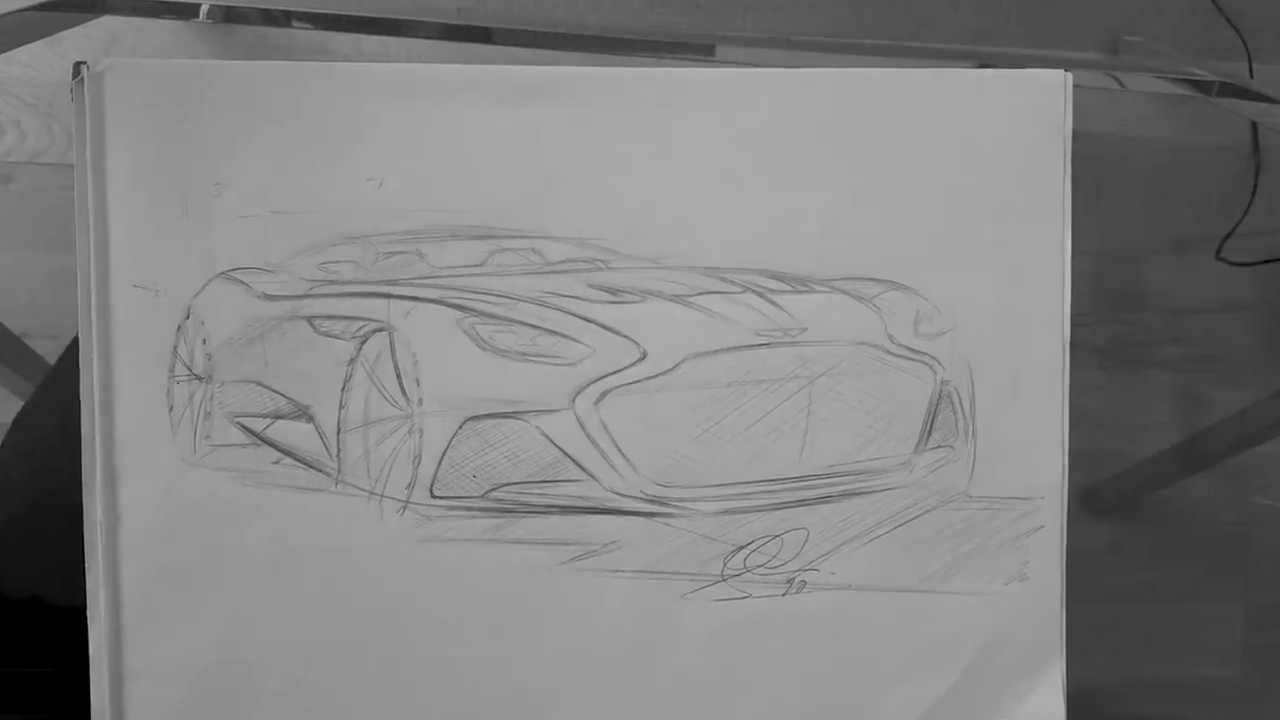 Dessin Aston Martin DBS Superleggera