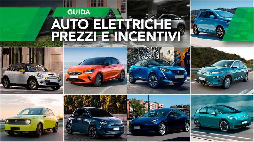 Auto elettriche, il listino prezzi scontato con gli incentivi 2020