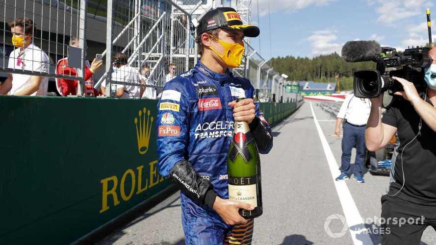 Norris thought he had 'fudged' podium shot