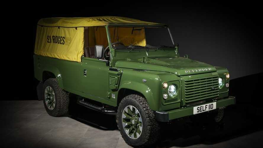 Selfridge's bespoke Land Rover Defender unveiled