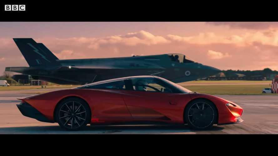 El McLaren Speedtail se enfrenta a un F-35, en una prueba de aceleración