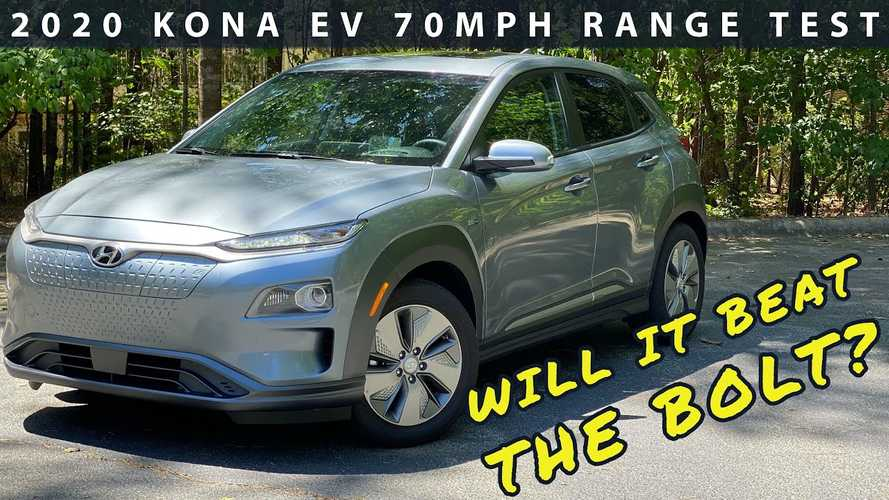 2020 Hyundai Kona Electric Range Test At A Constant 70 MPH
