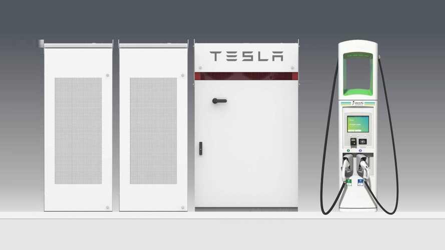 Зарядки VW оснастят стационарными батареями Tesla