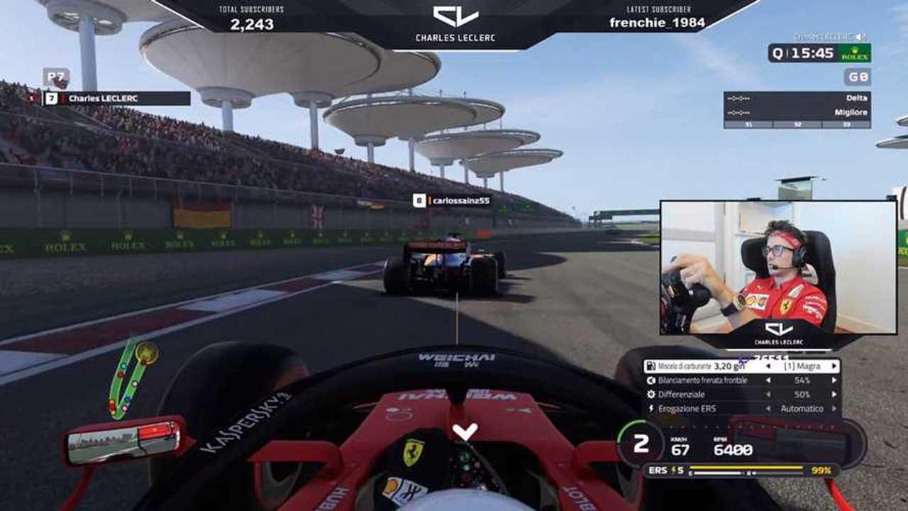 Charles Leclerc  in Formula 1 Virtual GP 2020