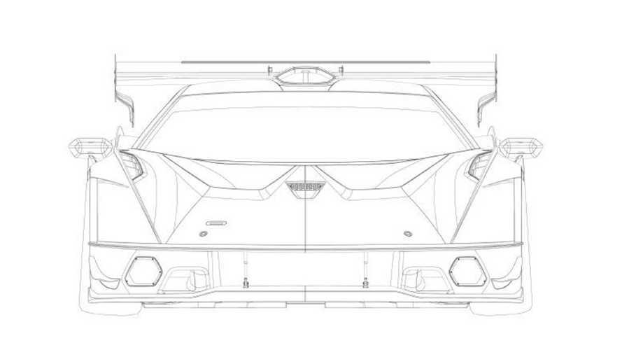Lamborghini SCV12 patent filing