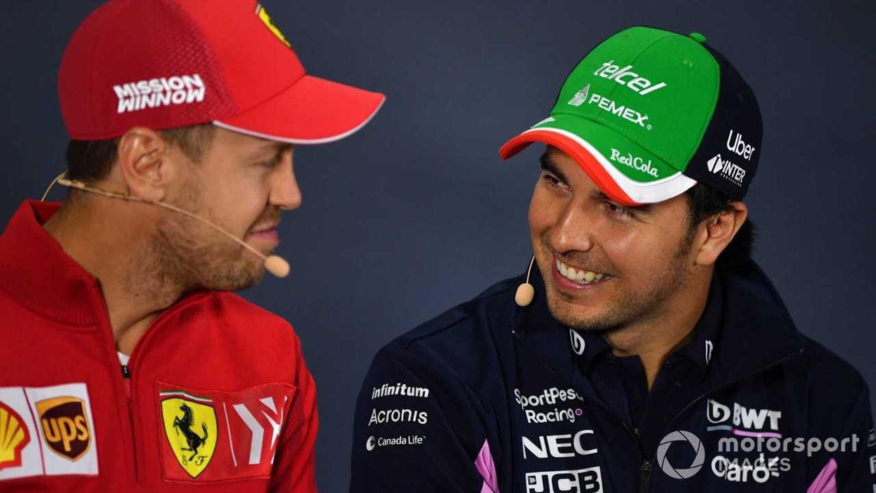 Sebastian Vettel and Sergio Perez at Mexican GP 2019