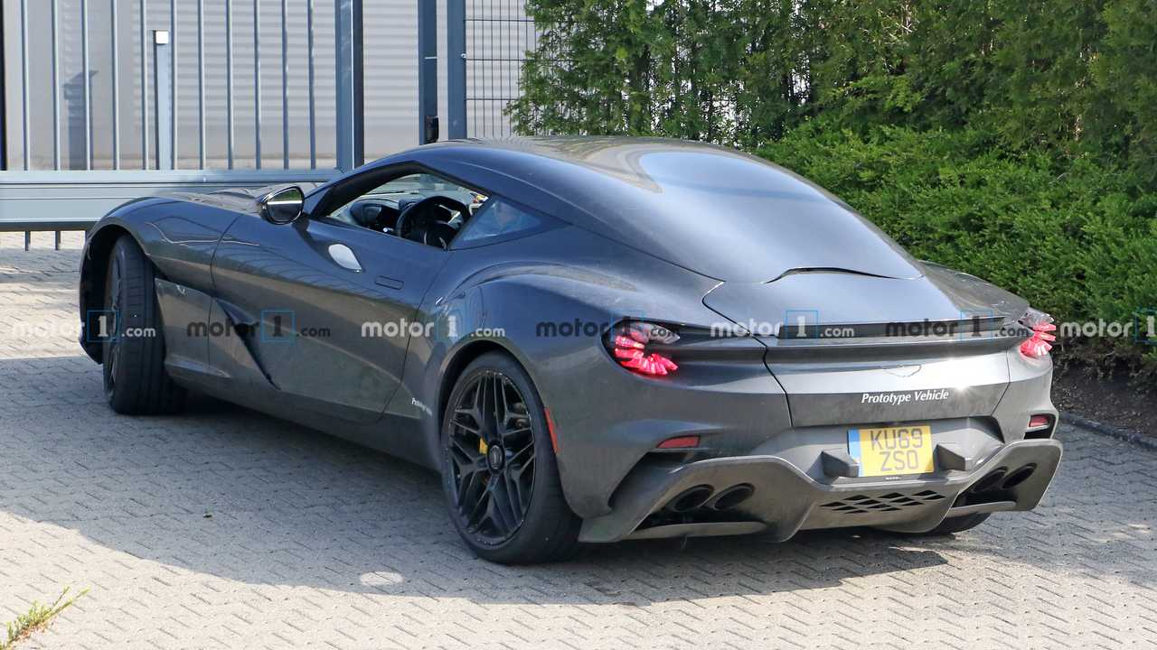 Aston Martin Dbs Gt Zagato Prototype Spied Looking Great On The Road