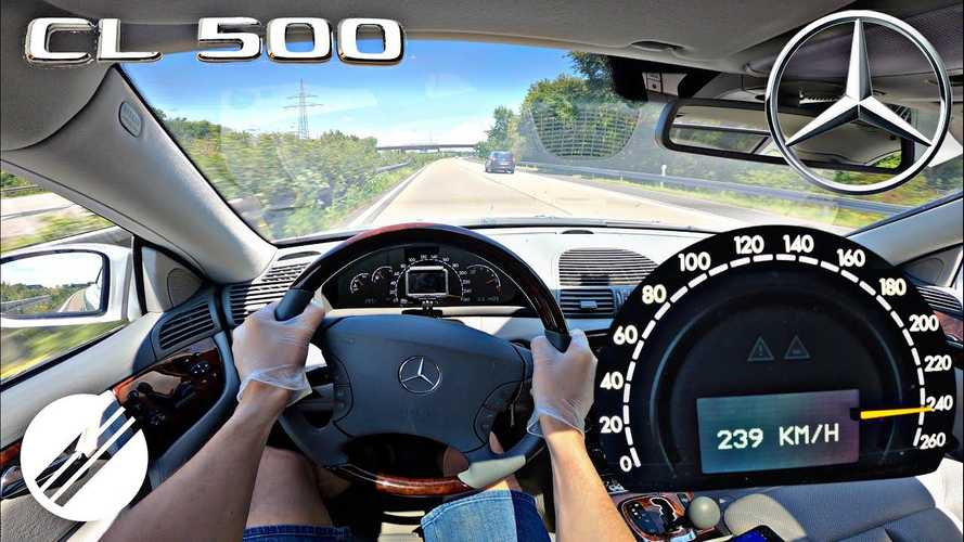Mercedes CL 500 Autobahn top speed run