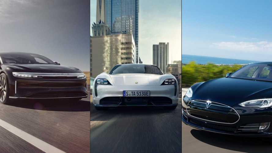 Lucid Air, Tesla Model S e Porsche Taycan: o desafio da autonomia real