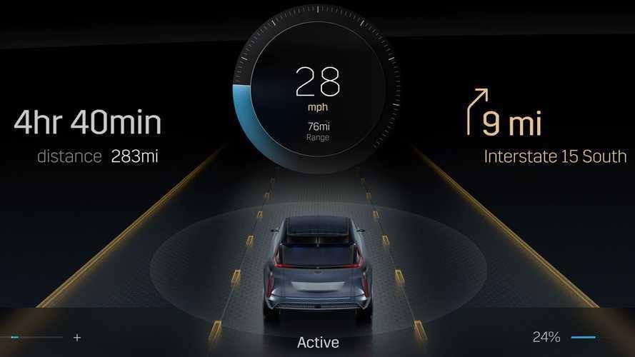 Cadillac показал огромный дисплей электрокроссовера Lyriq