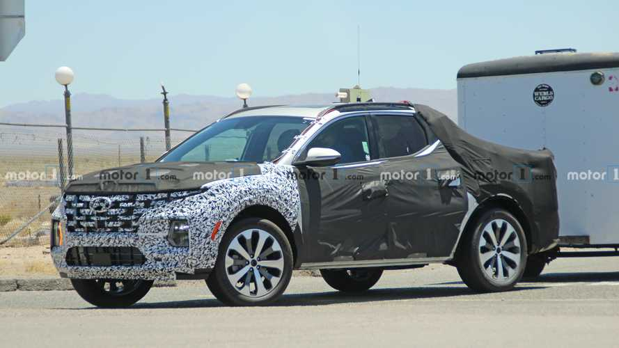 Hyundai Santa Cruz pickup spied with less camo than ever