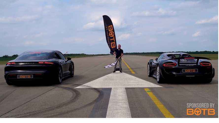 VIDÉO - La Porsche Taycan Turbo S se fait laminer par la 918 Spyder