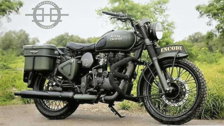 Custom Royal Enfield Classic 350 Encode Looks Like A WW2 Relic