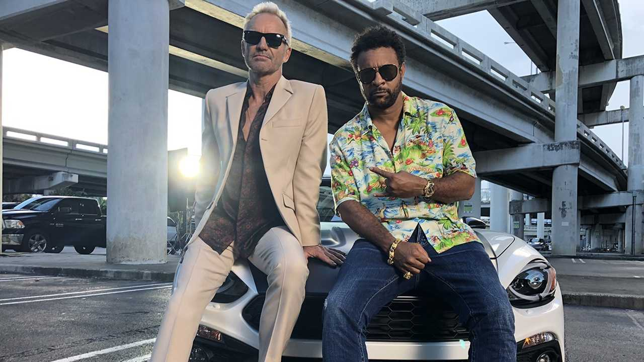 Sting and Shaggy in the Abarth 124 Spider
